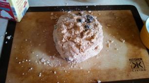 Scone dough, uncut