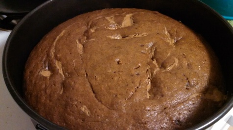 Pumpkin Cookie Butter Cake. Look at the swirks!
