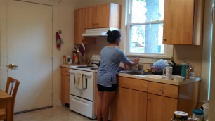 Veronica in the kitchen