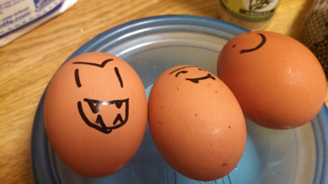 'devilled' eggs